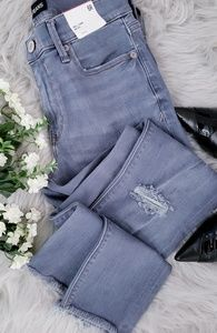 Express Ankle Legging Mid Rise Distressed Jeans